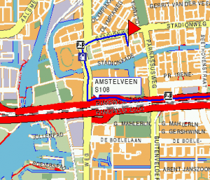 Routebeschrijving Amsterdam 1